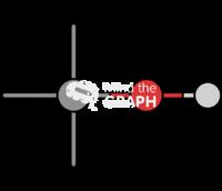 Methane tertiary alcohol molecule