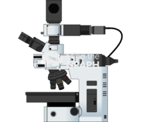 Optical dark field microscope lateral
