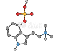 Psilocybin molecule