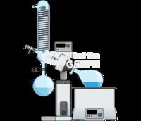 Rotary evaporator front