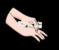 Scratching hand zoom