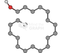 Stearyl alcohol molecule