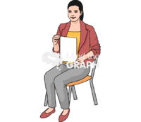 Teacher chair blank paper