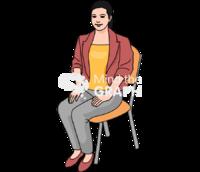 Teacher sitting chair