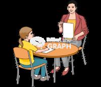 Teacher student blank paper chair