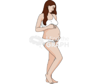 Woman pregnant fetus casual