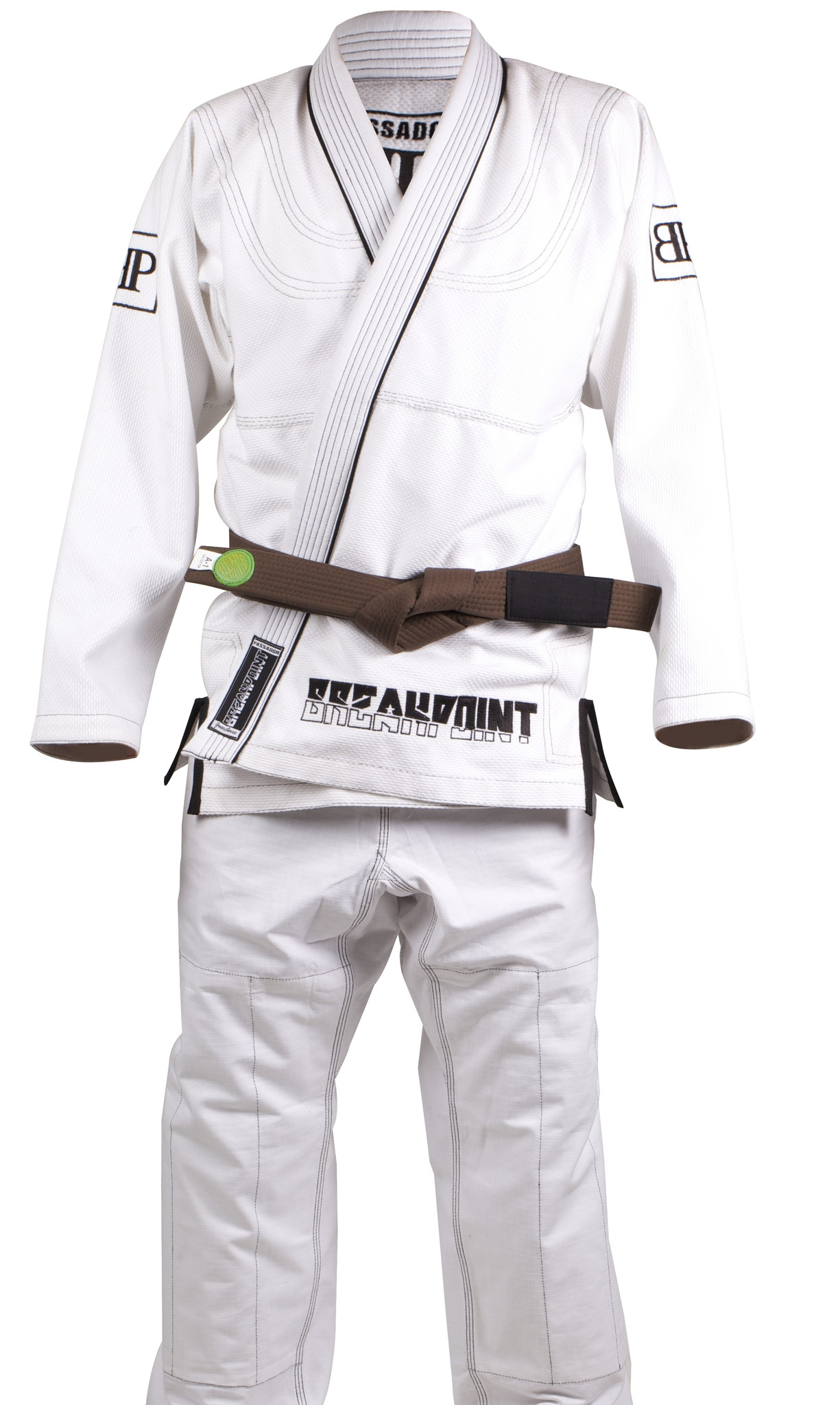 Break Point Mens Limited Edition Passador Guardeiro BJJ  Jiu Jitsu Gi - White  high quality & fast shipping