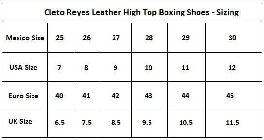 Cleto Reyes Leather Lace Up High Top Boxing Shoes Black
