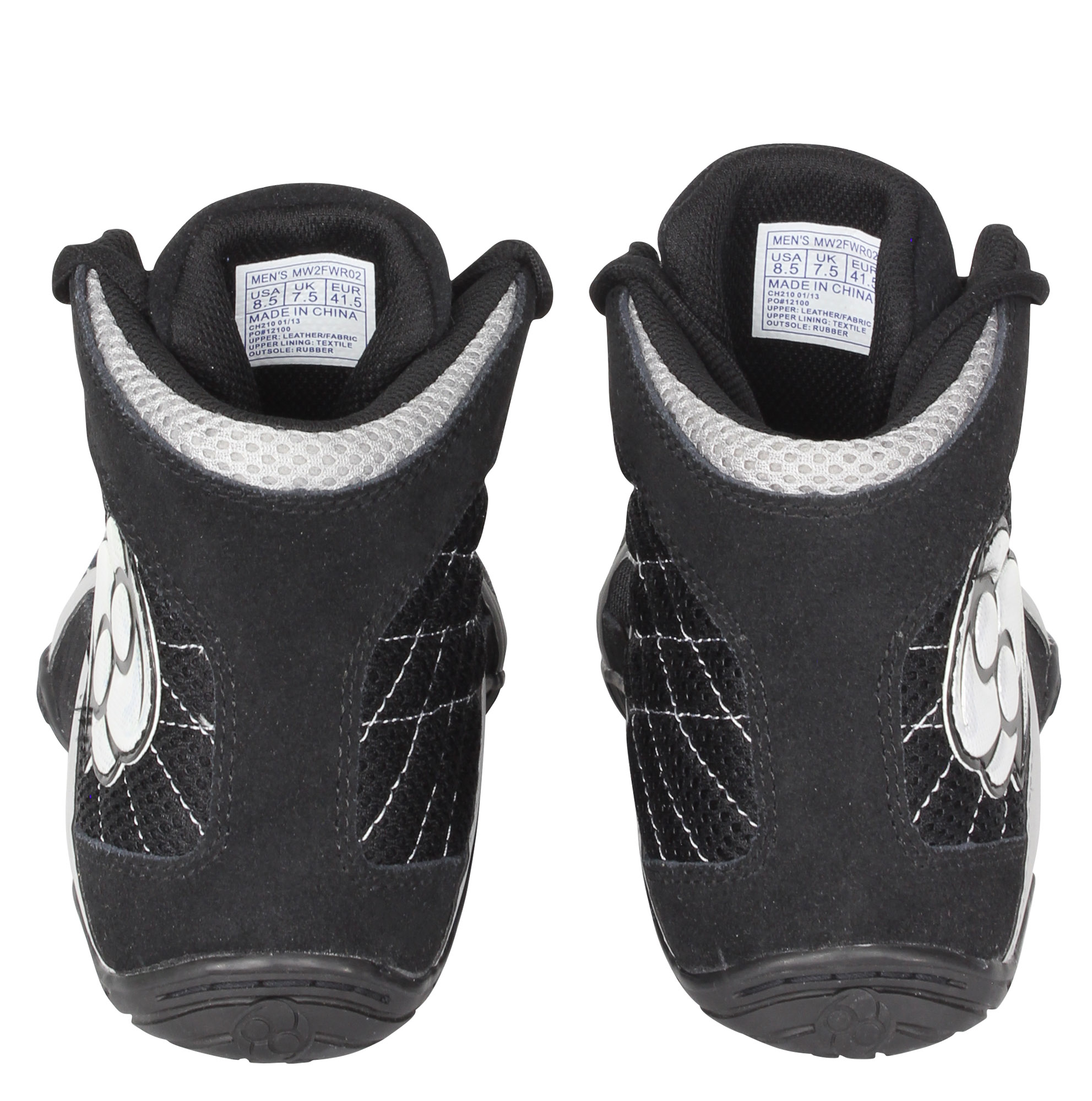 Clinch Gear Reign Wrestling Shoes Black Gray