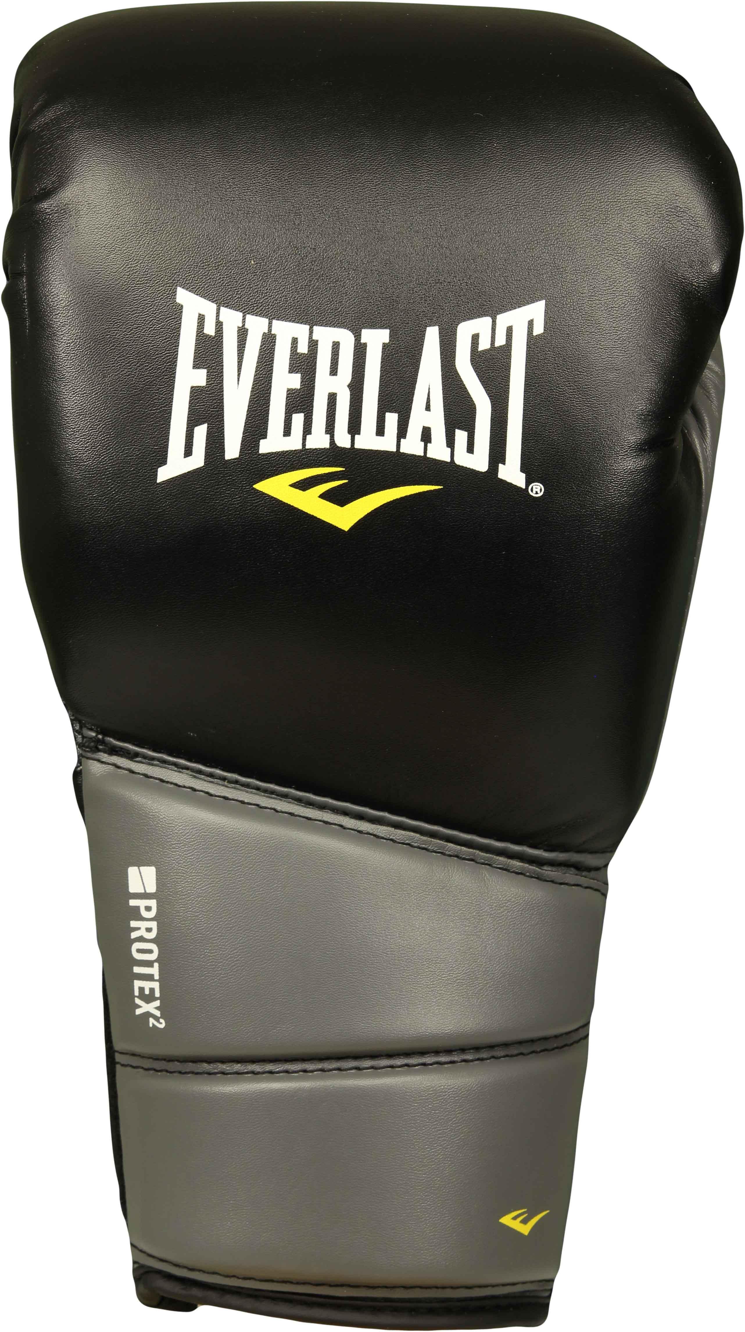 Shiv Naresh Teens Boxing Gloves 12oz: Everlast Gel Protex 2 Boxing Gloves (Black/Gray)