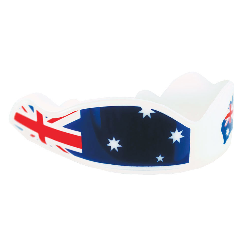 White Fight Dentist Australia Down Under Adult Mouthguard