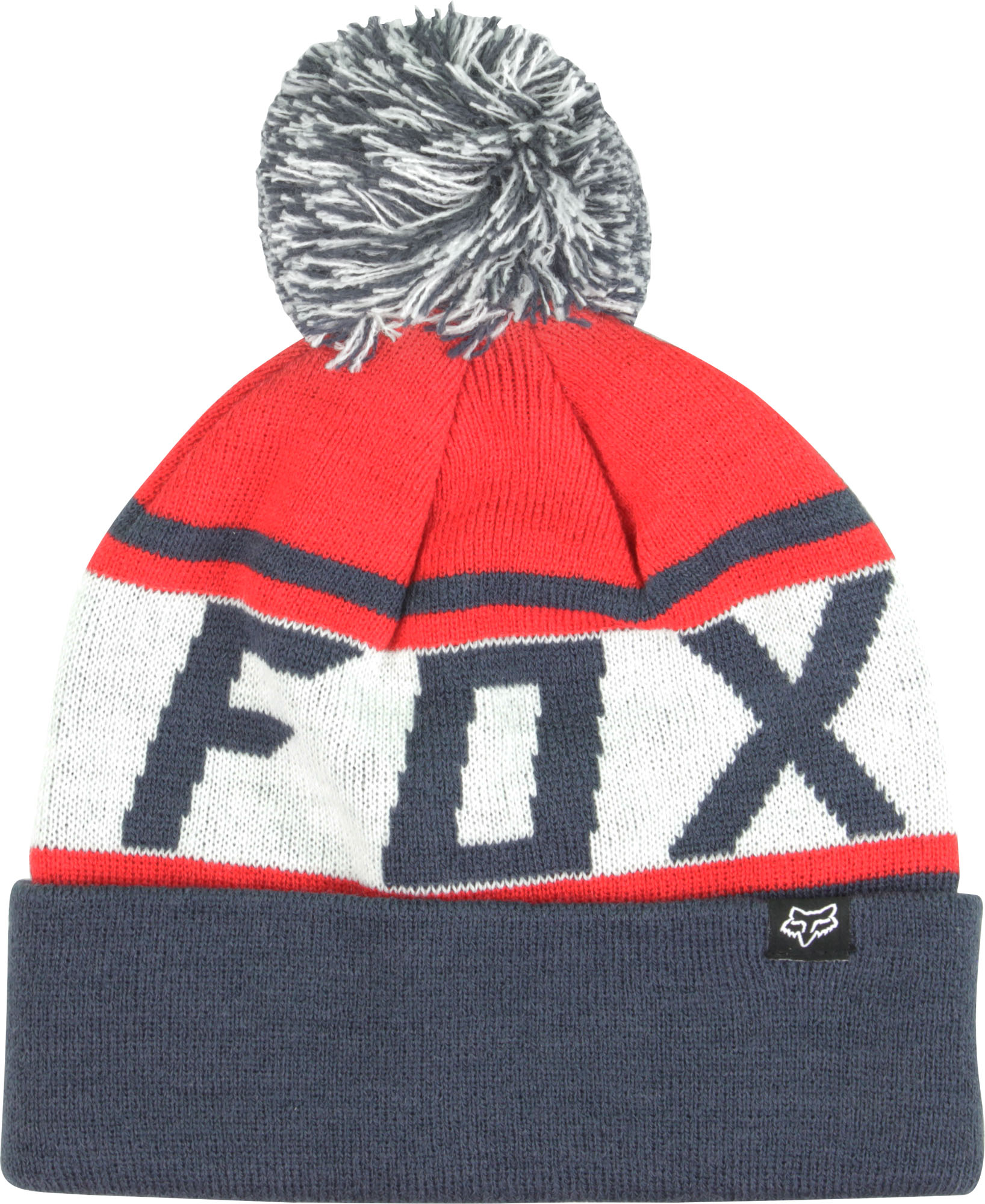 543f647c2d9 Details about Fox Racing Throwback Beanie (Navy Red White)