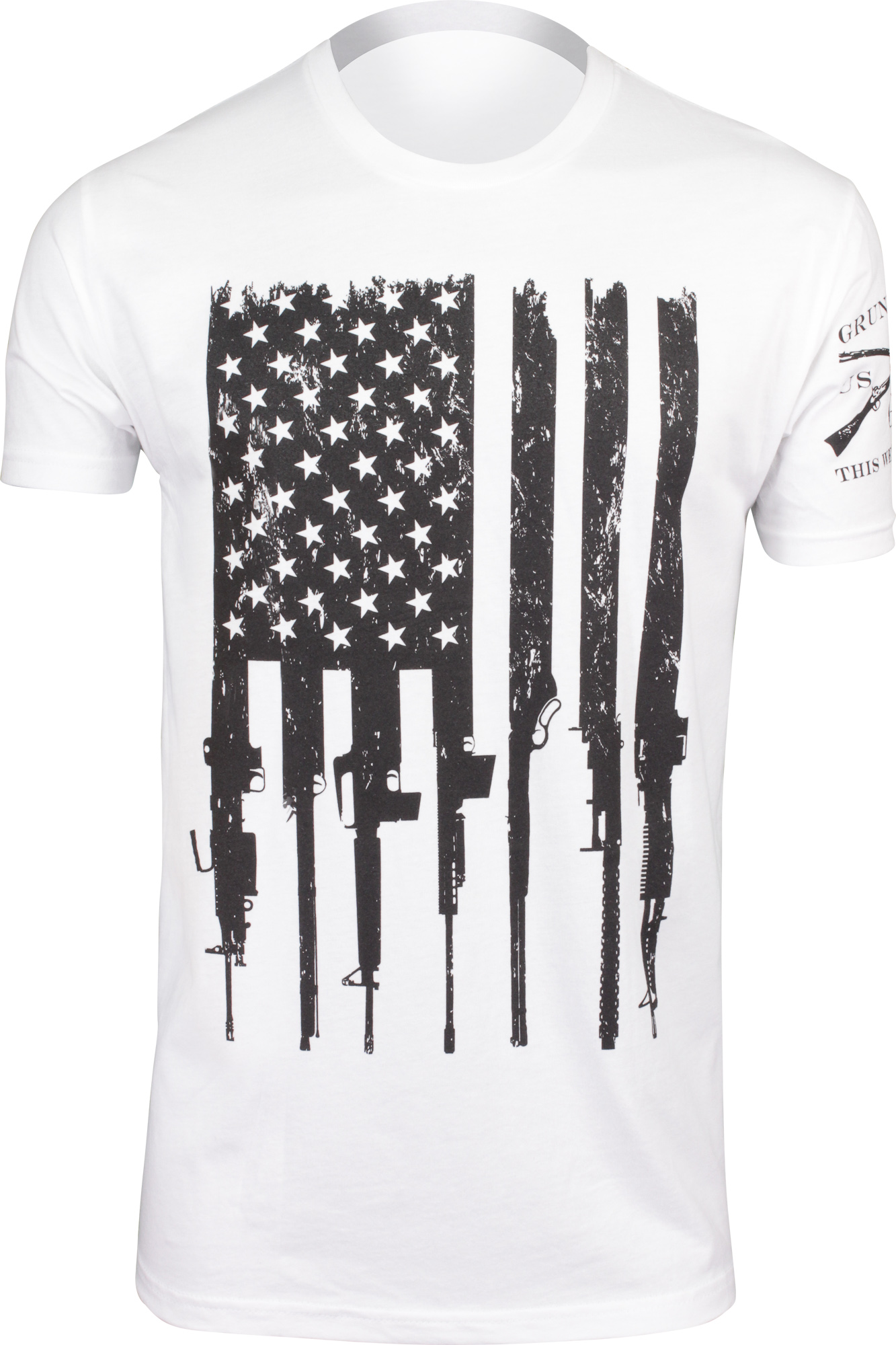 3001-Black-XL OpticsPlanet Exclusive Grunt Style American Flag T-Shirt Mens