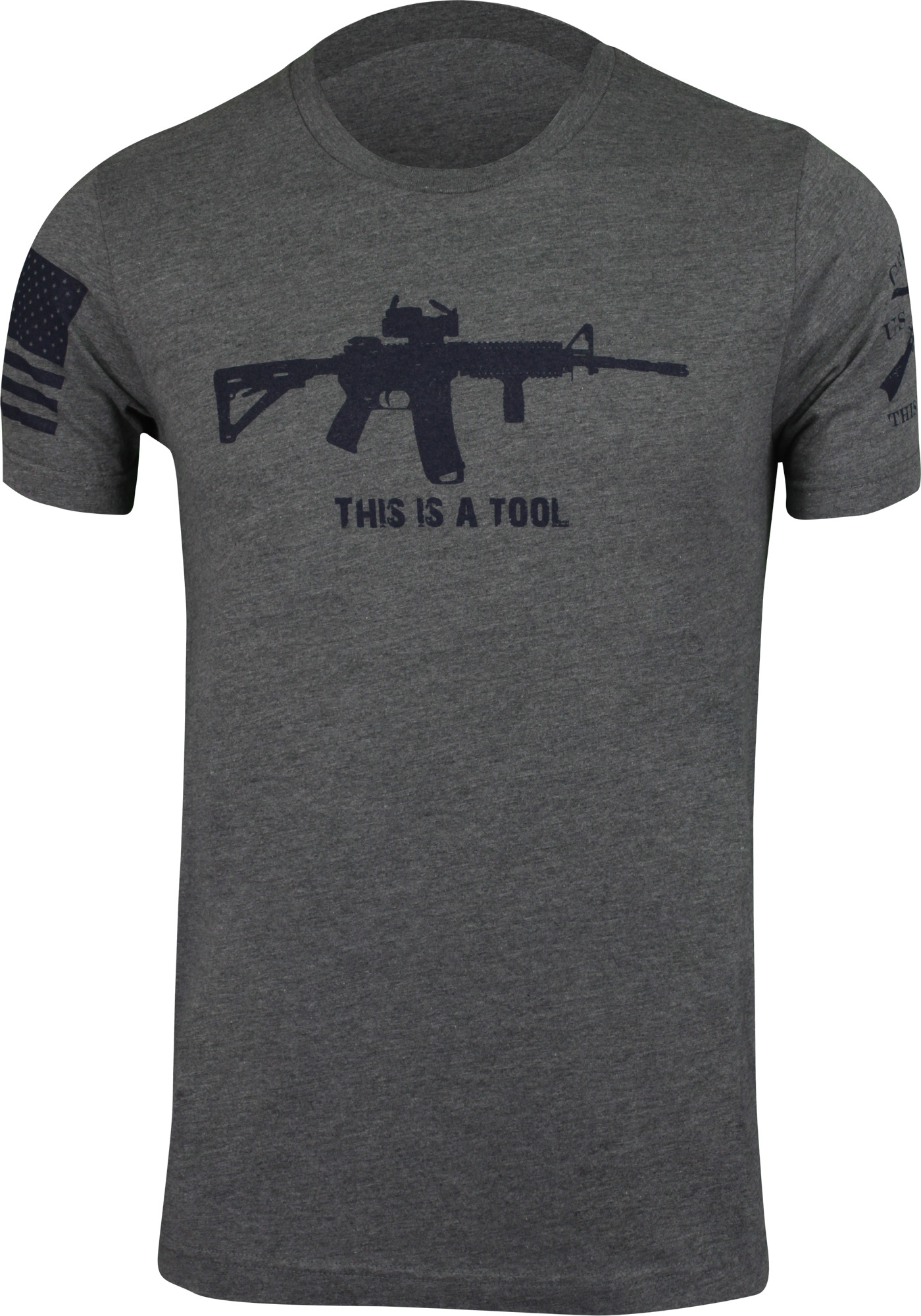 28df3649 Details about Grunt Style Mens I Am The Weapon T-Shirt - Gray - American  Military
