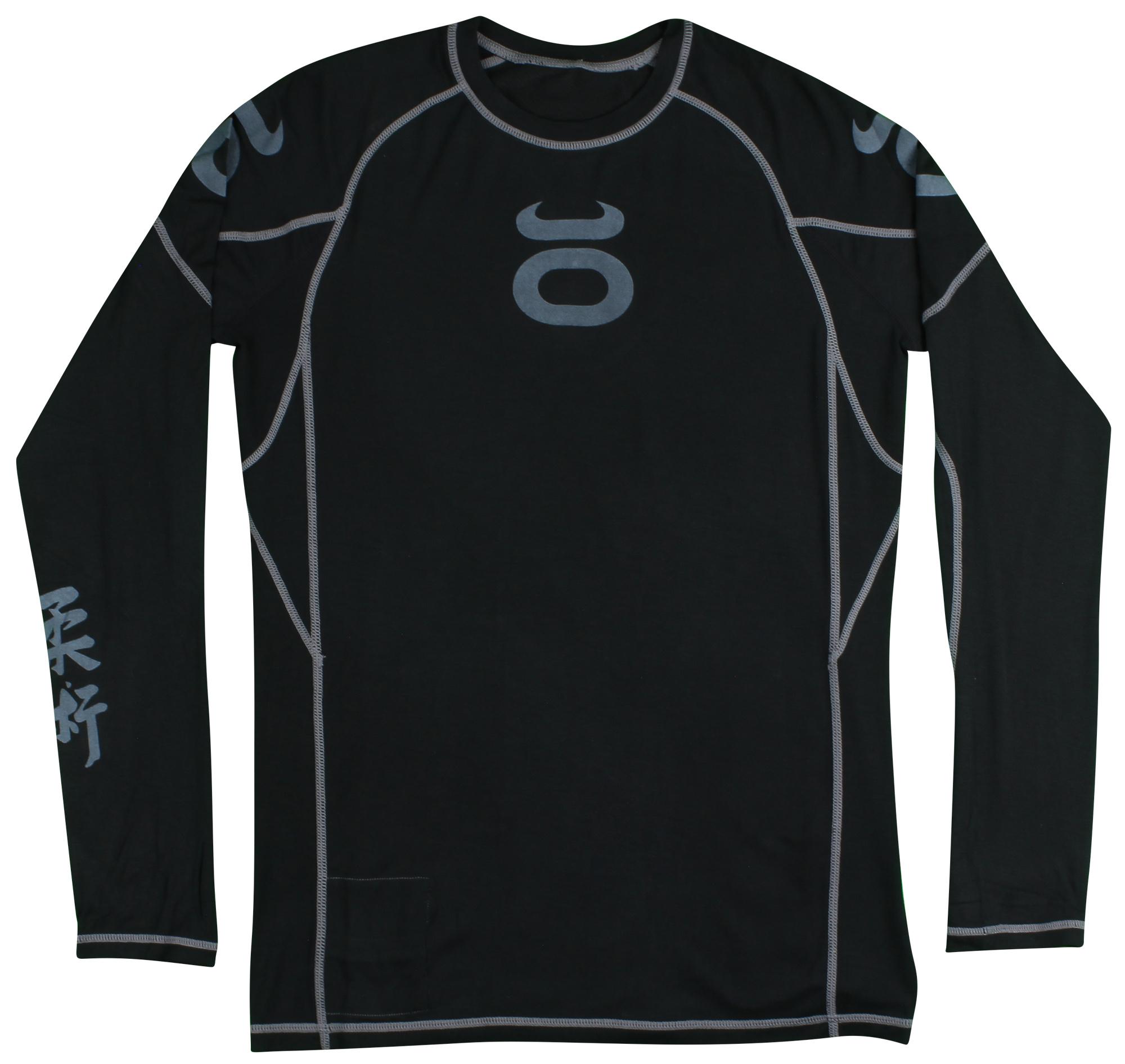 3943b79814cdb Jaco Mens Loose Compression Long Sleeve Rashguard - Black Gray