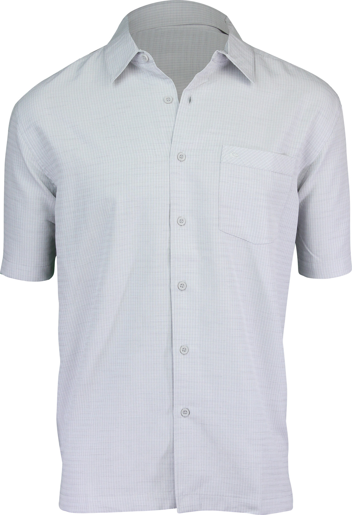 d0613a48 Quiksilver Mens Waterman Collection Centinela 4 SS Shirt Freizeithemden &  Shirts Drizzle Gray Herrenmode