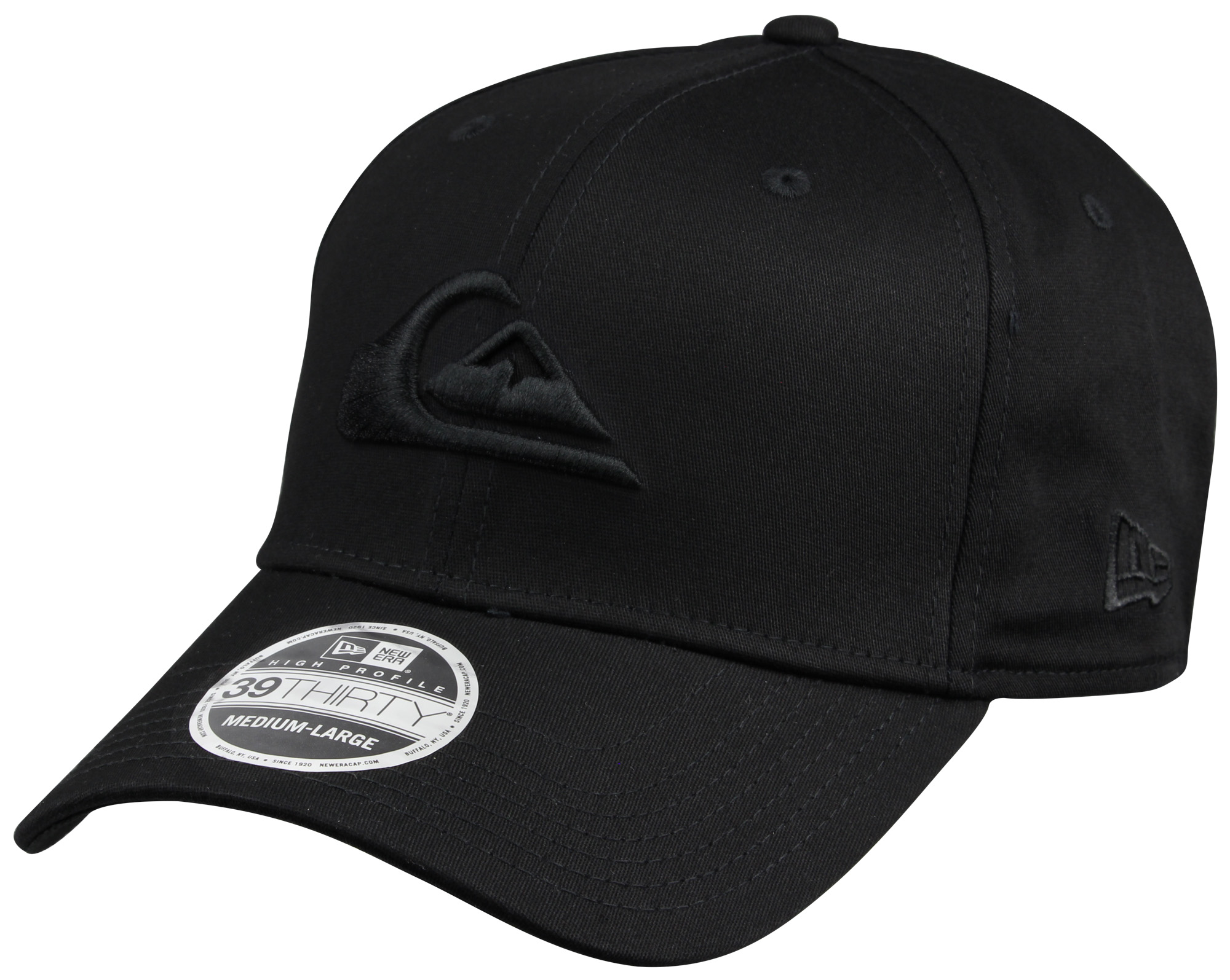 06eb3694698 Quiksilver Mens Mountain and Wave New Era Hat - All Black