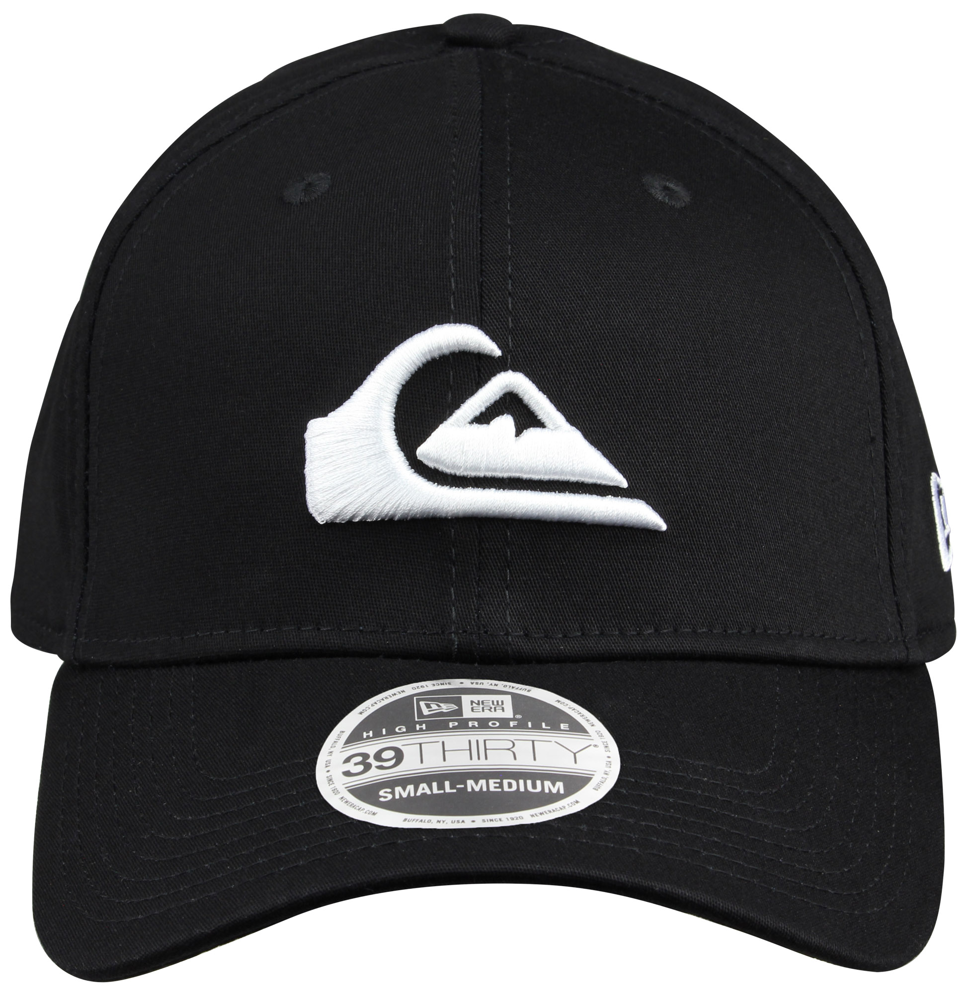 77d2cd1b3ea Quiksilver Mens Mountain and Wave New Era Hat - Black White