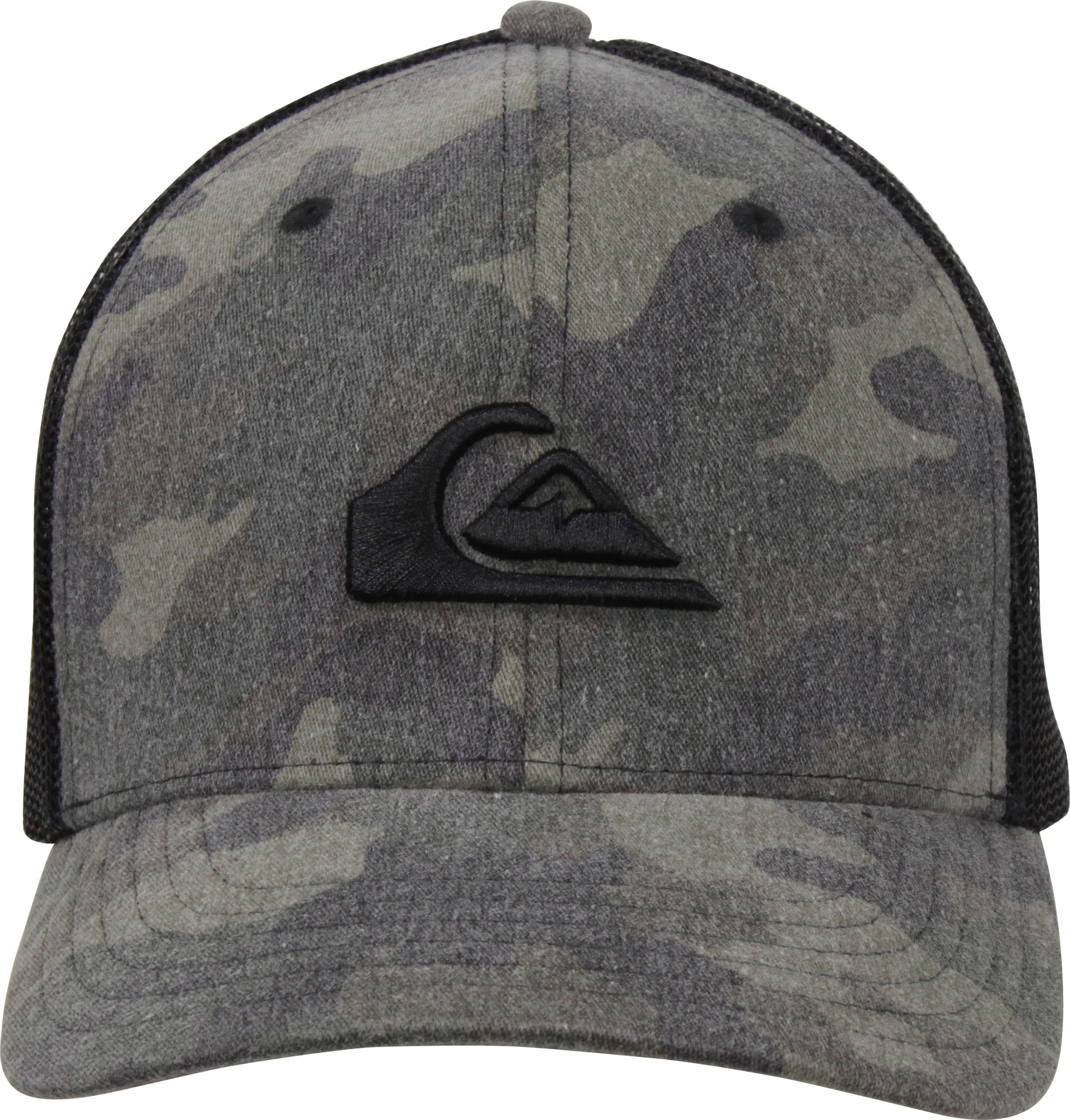 73155a2cd29eb Quiksilver-Mens-Grounder-Snapback-Trucker-Hat-Camo-Black thumbnail