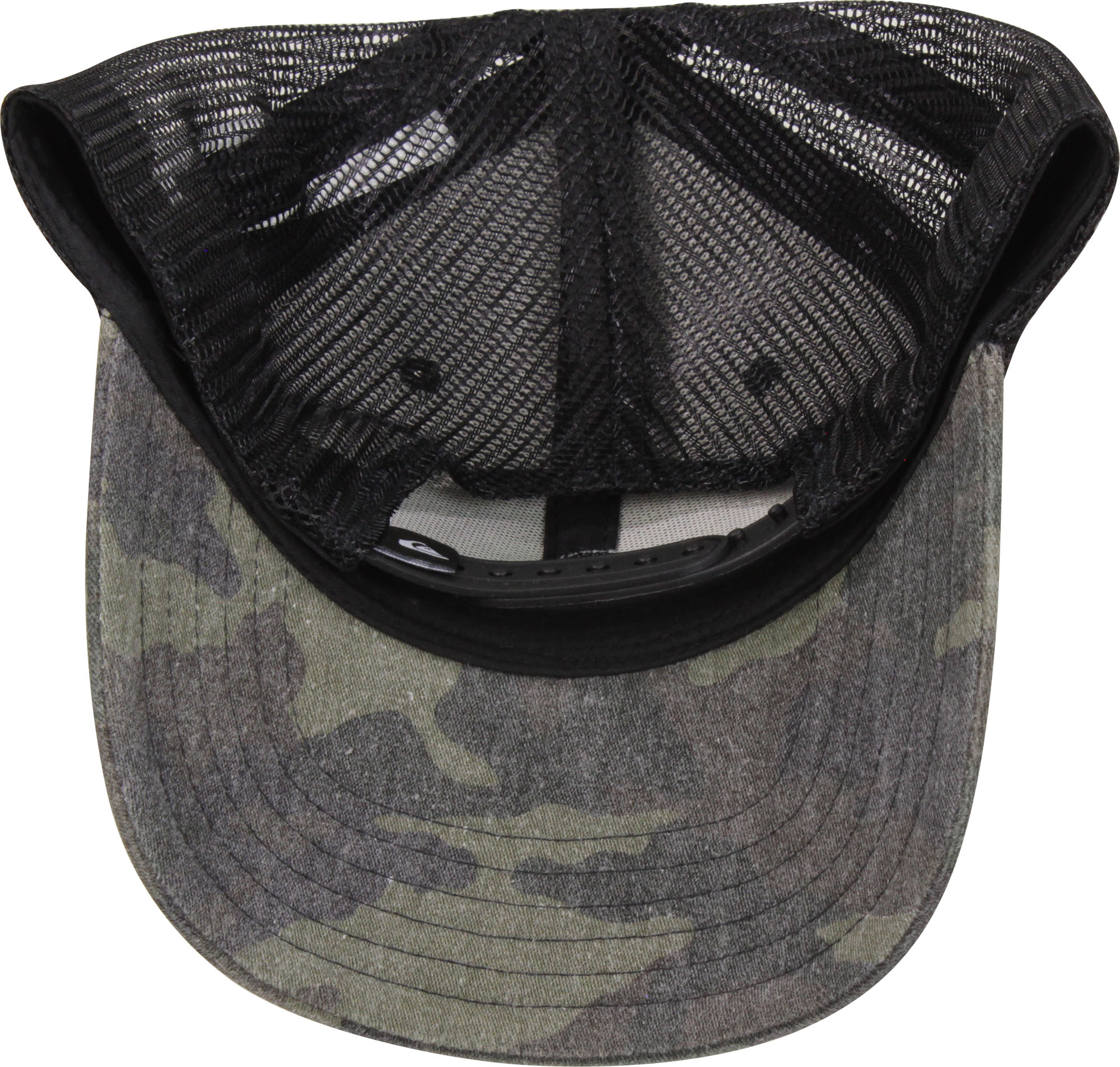 official photos a9f72 9c5e0 Quiksilver-Mens-Grounder-Snapback-Trucker-Hat-Camo-Black thumbnail