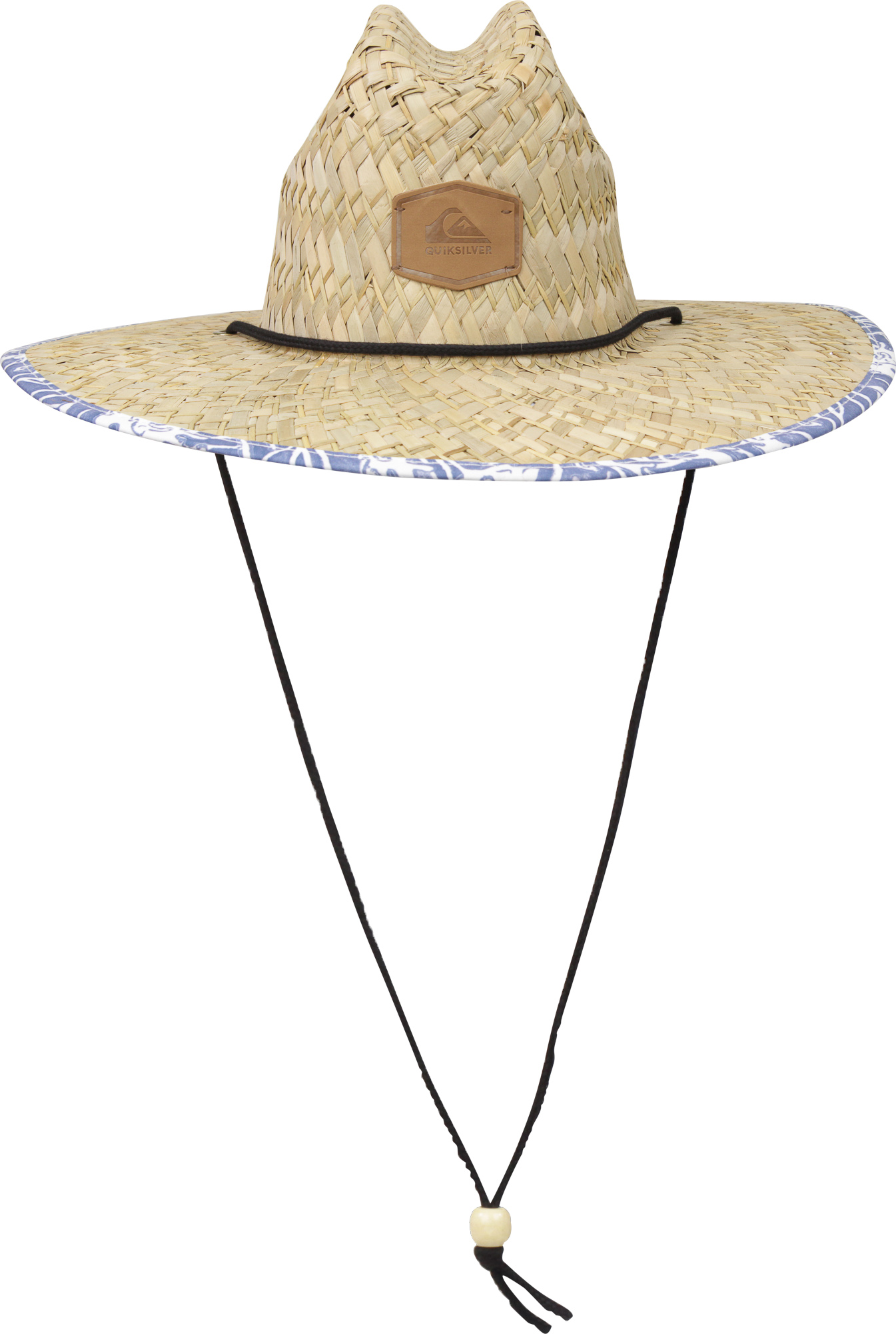 Details about Quiksilver Mens Outsider Wide Brim Straw Sun Hat - Straw Bijou  Blue 0e514b08b48a