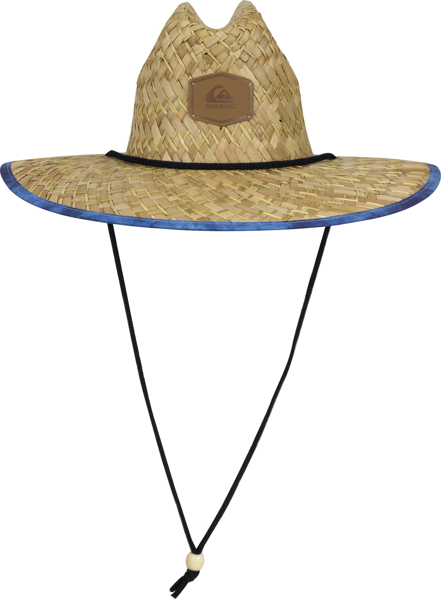dce4f0ca Details about Quiksilver Mens Outsider Lifeguard Hat - Straw Brown/Blue -  Small/Medium