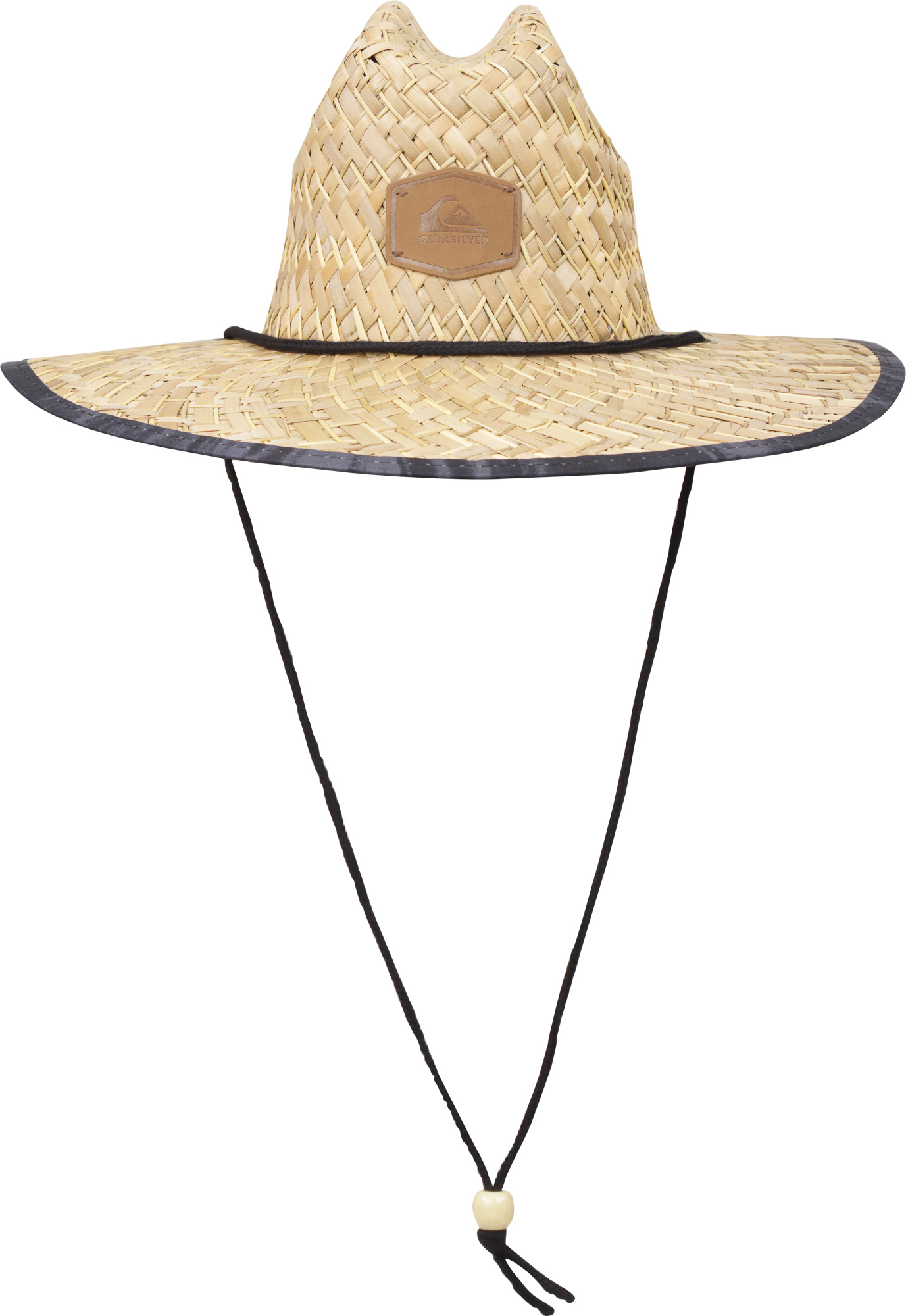 Details about Quiksilver Mens Outsider Wide Brim Straw Sun Hat - Straw Black  Heather eec6c345148e