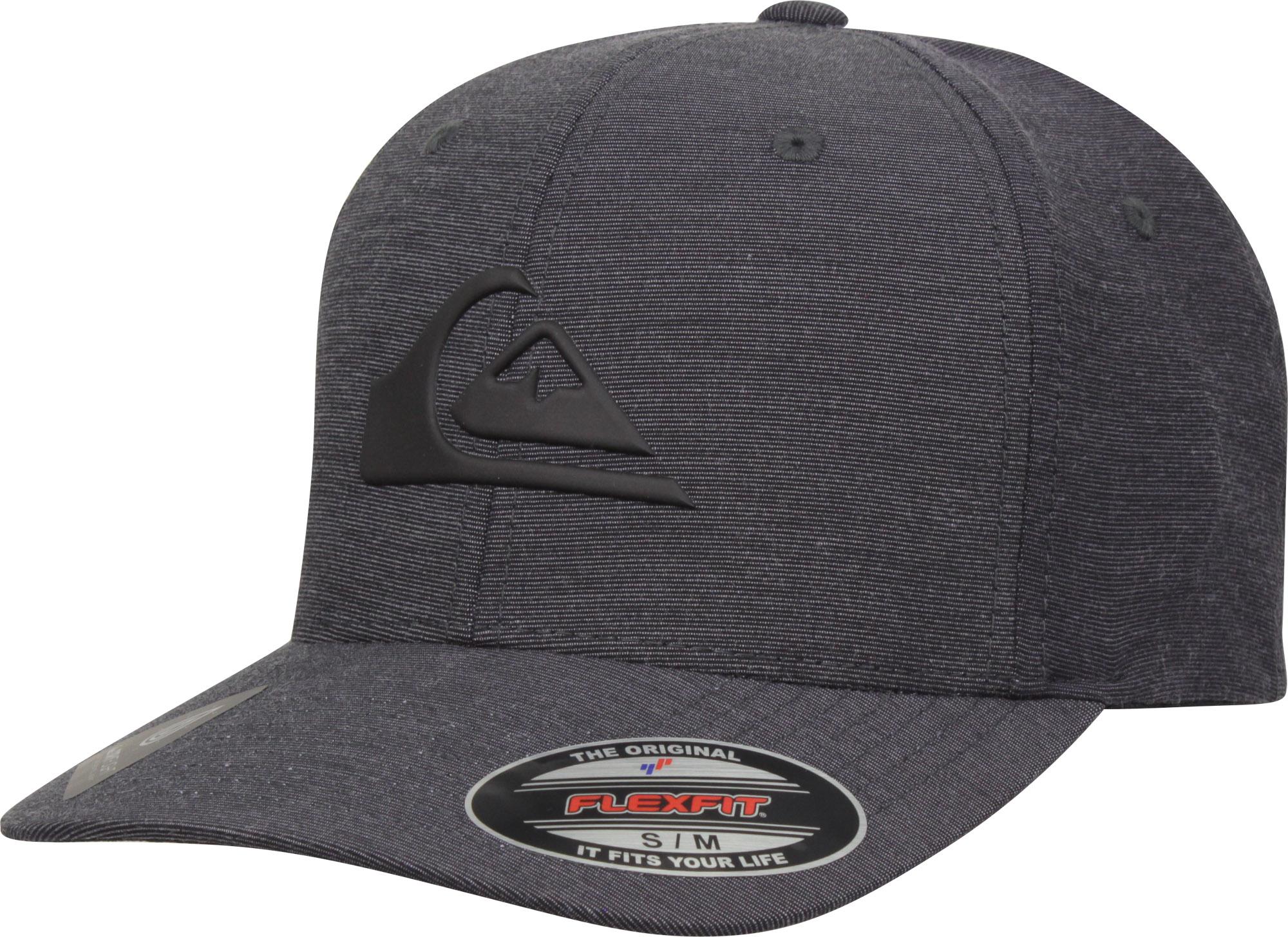 ccc88cfd2fa8d6 Details about Quiksilver Mens Dryflight Amphibian Texture Flexfit Hat -  Black