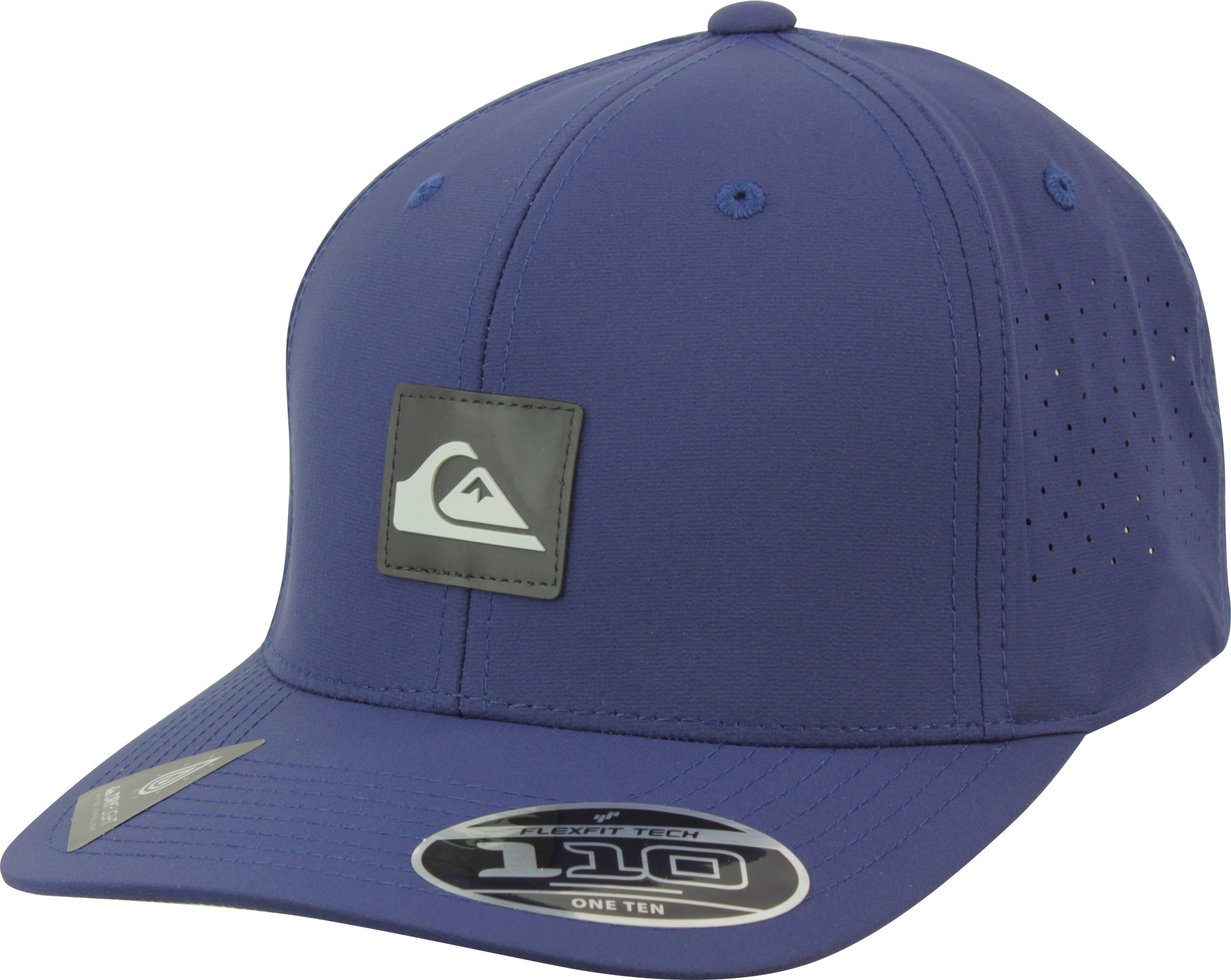 57f05c21140de Details about Quiksilver Mens Adapted 110 Amphibian Strapback Adjustable Hat  - Navy Blazer