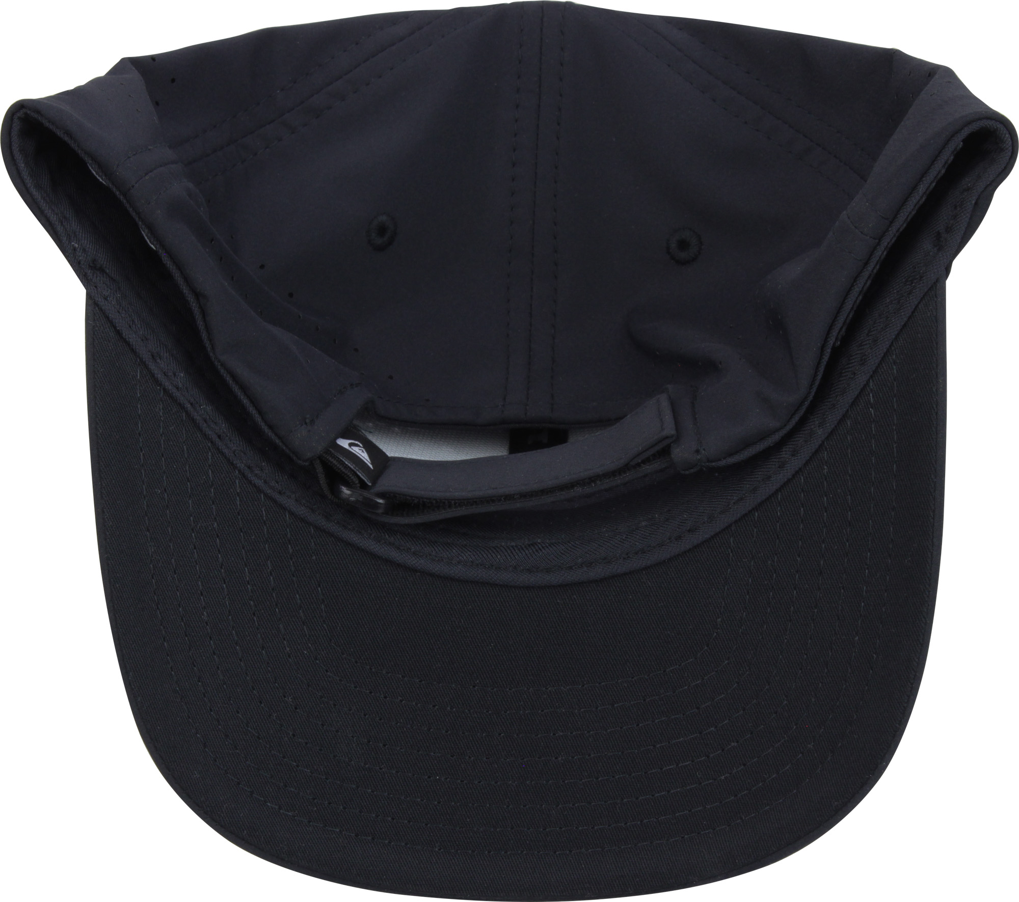 56efc3a409003 Quiksilver Mens Adapted Amphibian Flexfit Baseball Cap - Black