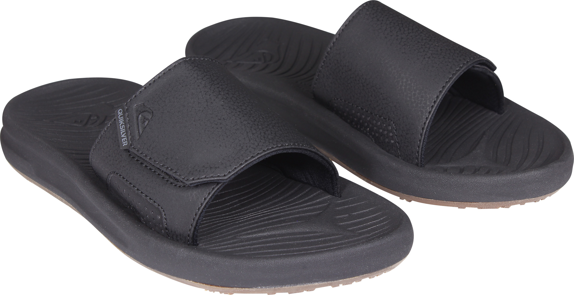 8182b7e93ab756 Quiksilver Mens Travel Oasis Slide Sandals - Black Brown