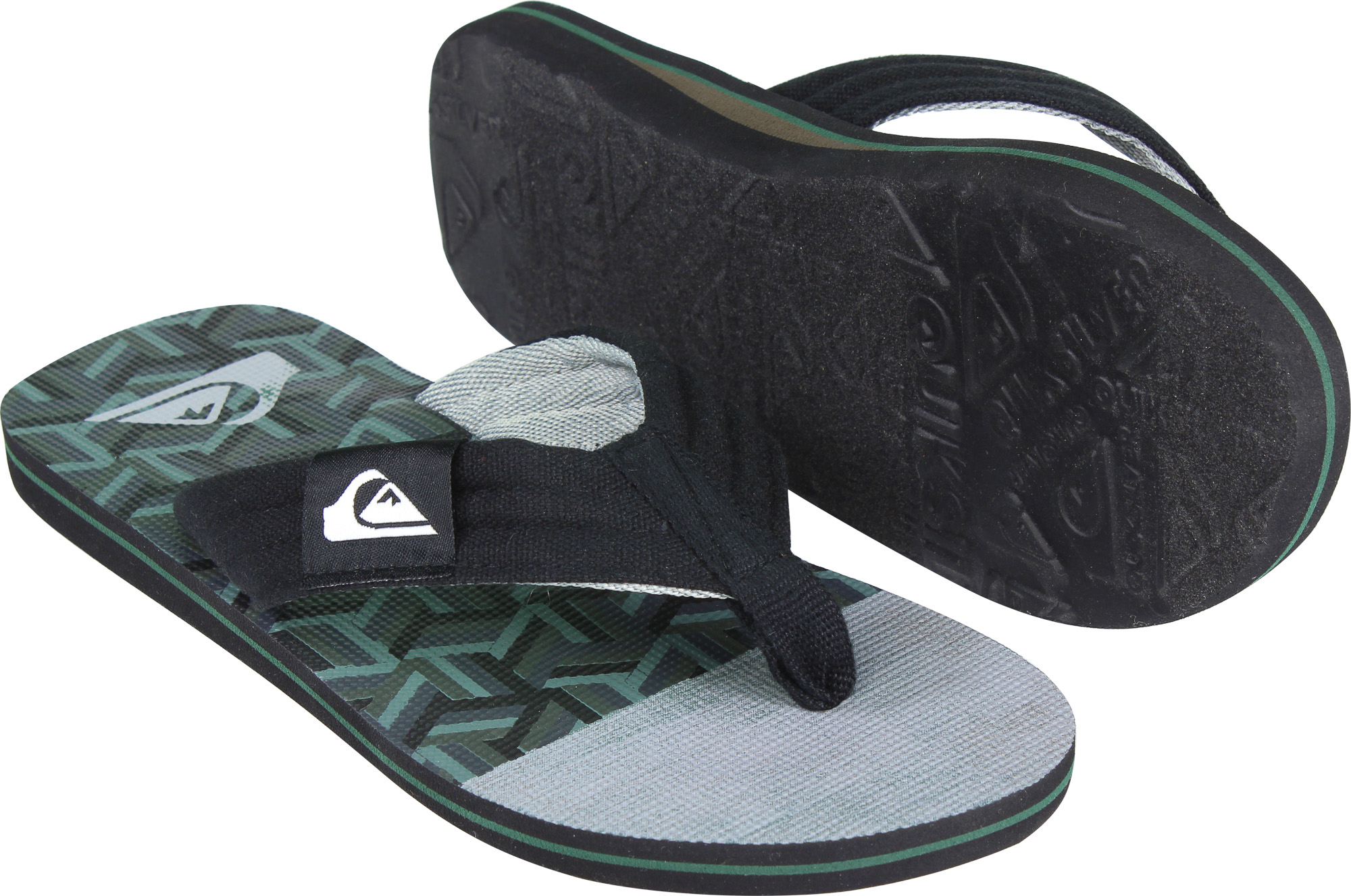 850b3002776b7 Details about Quiksilver Mens Molokai Layback Sandals - Black Green