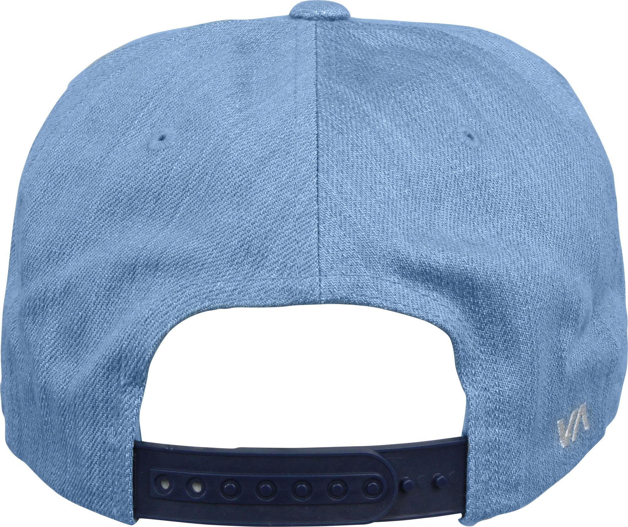 c62b5ffaf31 Details about RVCA Mens VA Sport Twill Snapback II Hat - Denim Blue