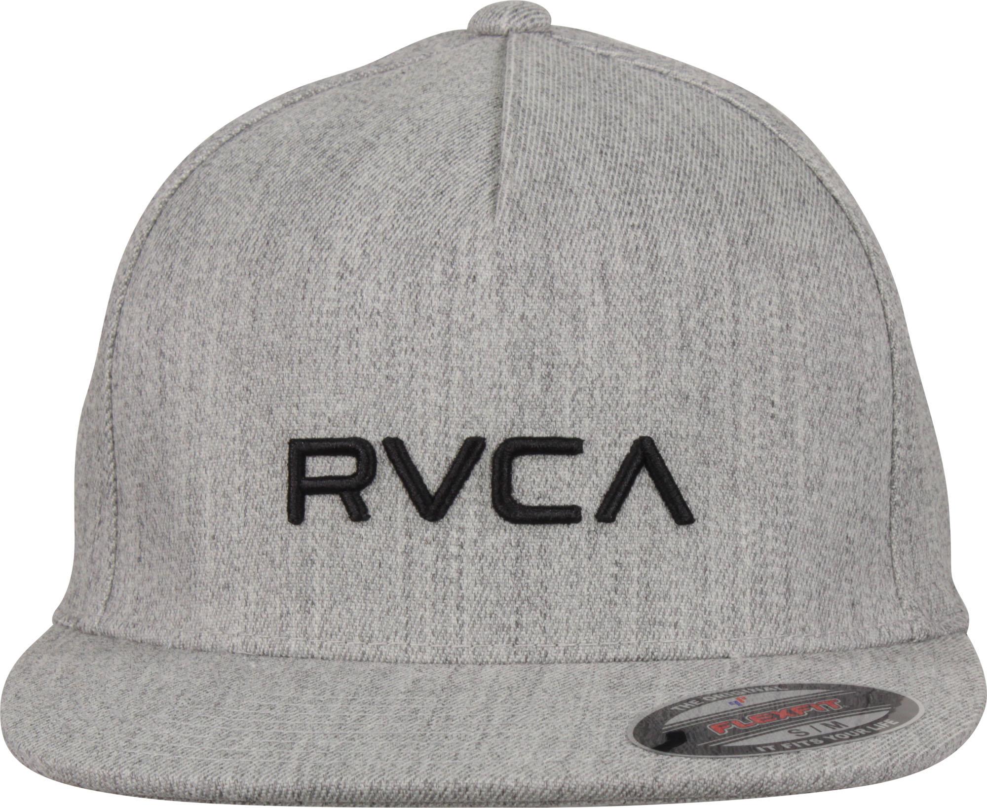 Details about RVCA Mens VA Sport Flexfit Hat - Heather Gray 6b978711570