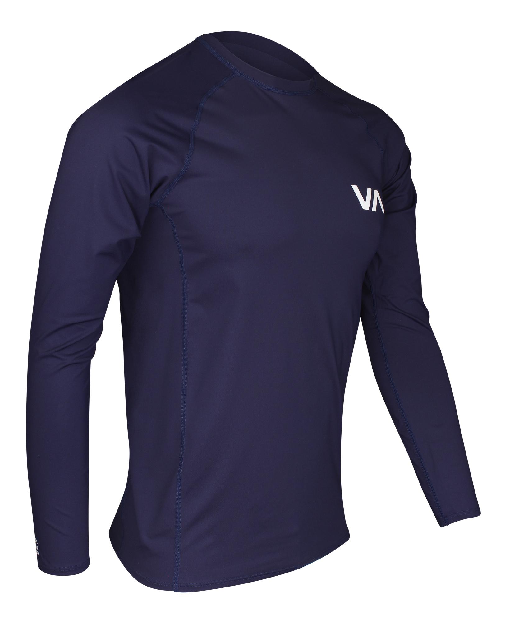 27ba429b64 Details about RVCA VA Sport Long Sleeve Rashguard (Navy)