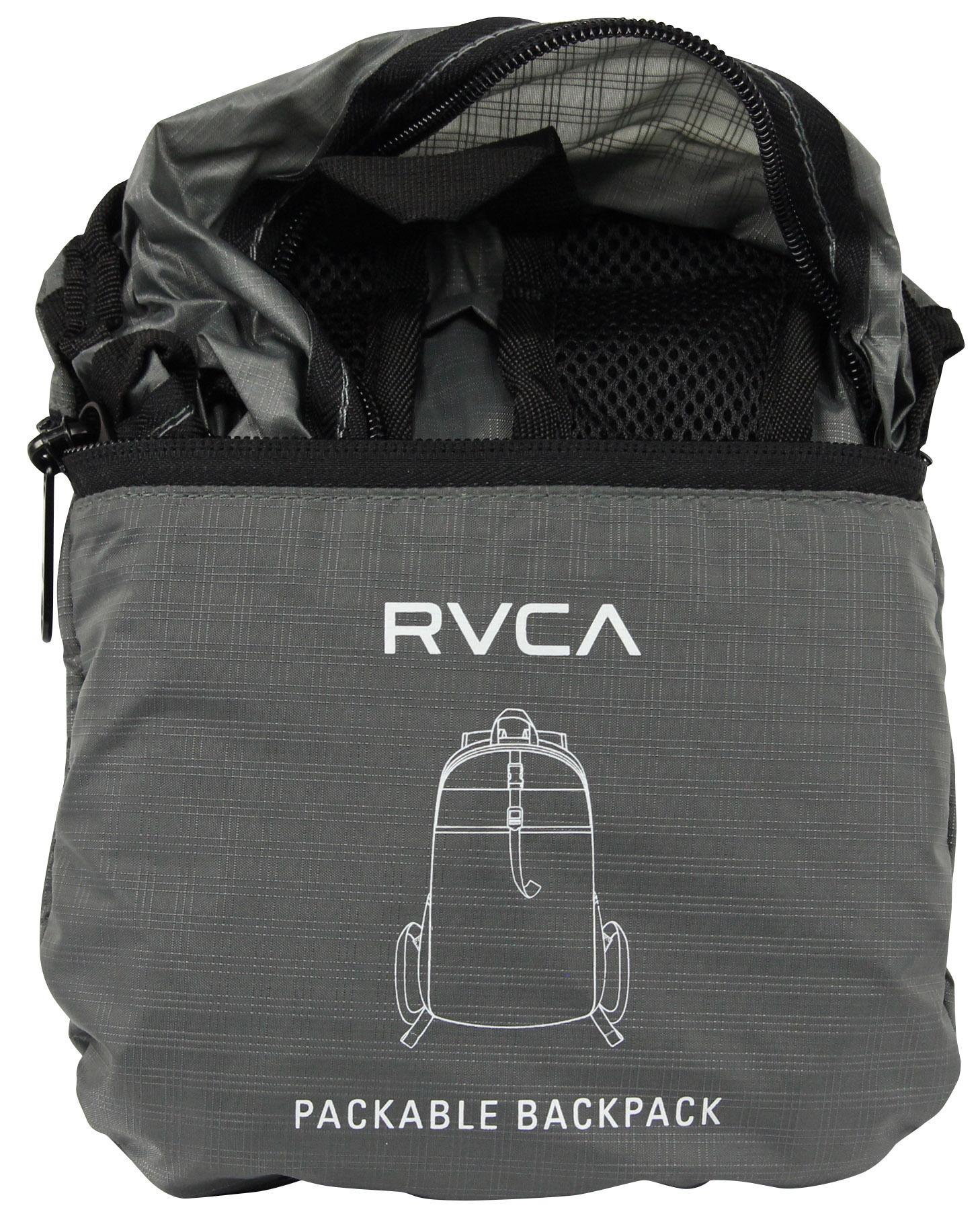14452b2fe787 Mochila RVCA Densen compactáveis (Cinza)