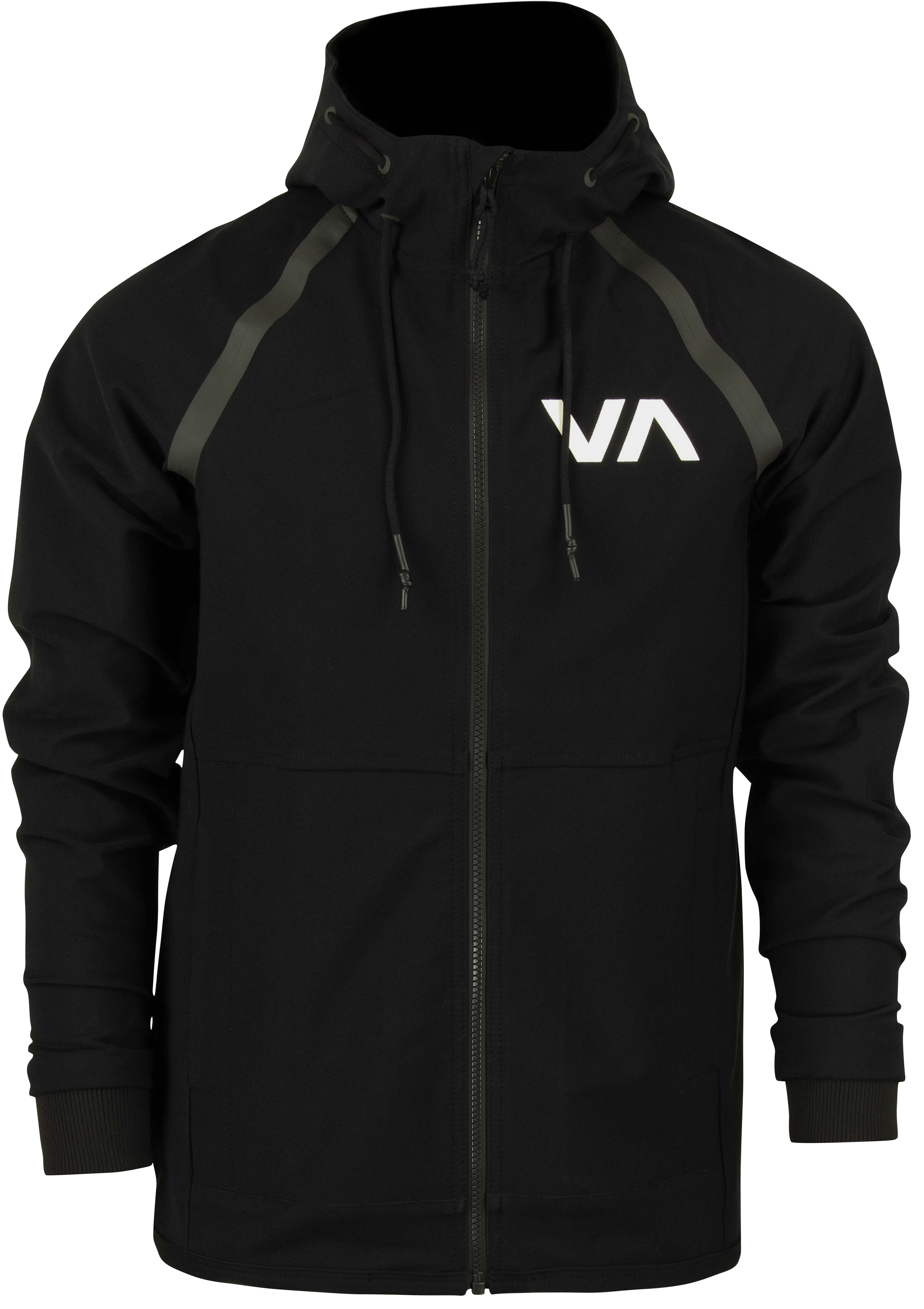 93d634866 RVCA Mens VA Sport Grappler Jacket - Black/Gray | eBay