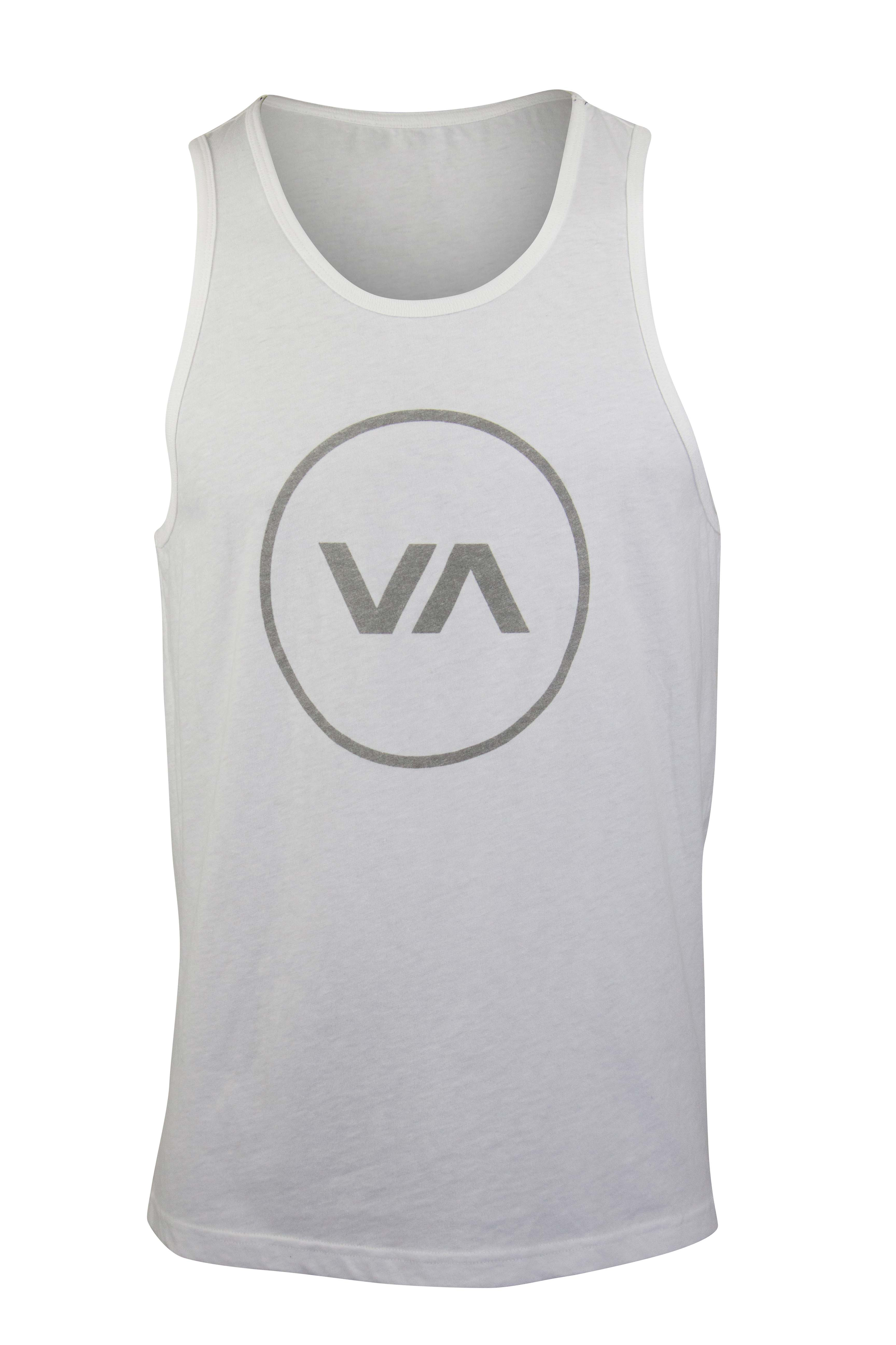 880809030240f0 Details about RVCA Mens VA Sport Position Tank Top Shirt - White/Gray