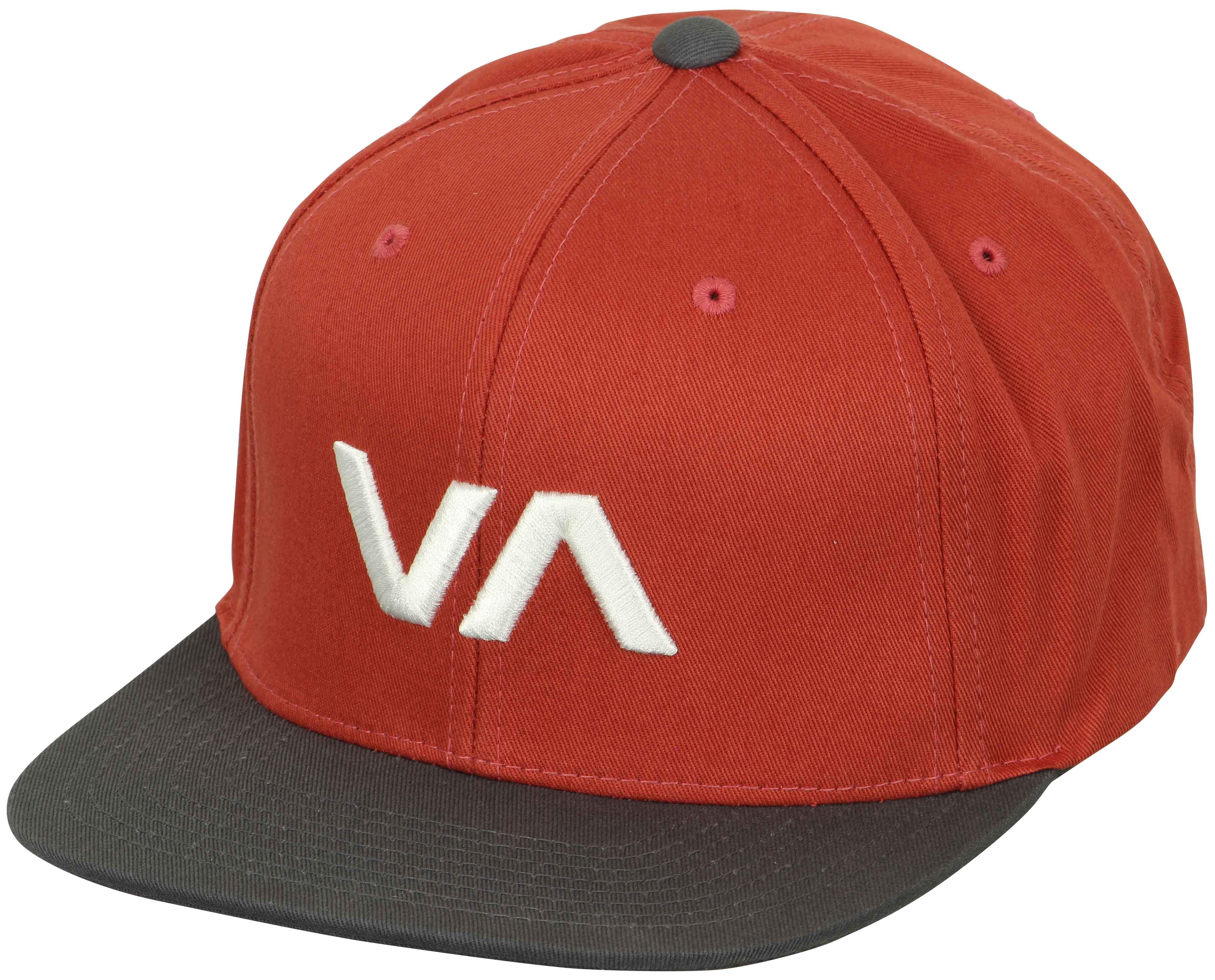 50c8040e2e4 Details about RVCA Mens Sport VA Snapback II Hat - Red Gray White