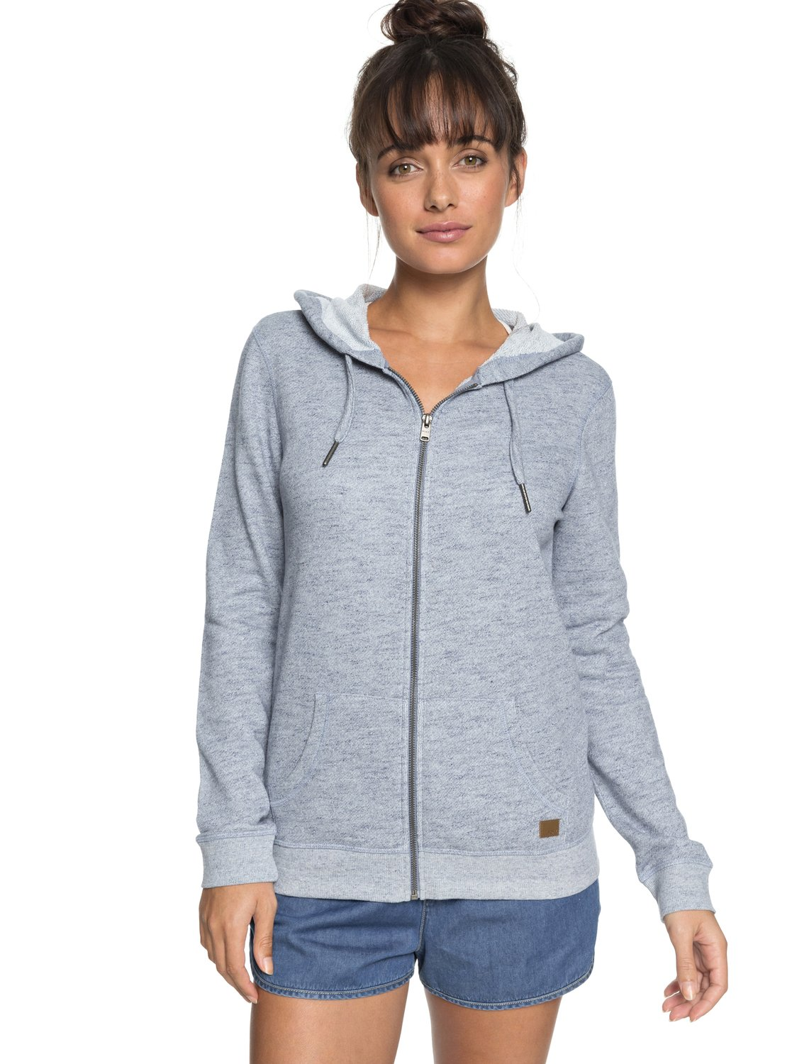 3678c79fbdcc8 Details about Roxy Womens Trippin Zip Up Hoodie - Dress Blues Heather