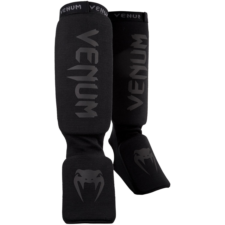 Venum Adult Unisex Kontact Slip On MMA Shinguards with Instep Black//Neo Yellow
