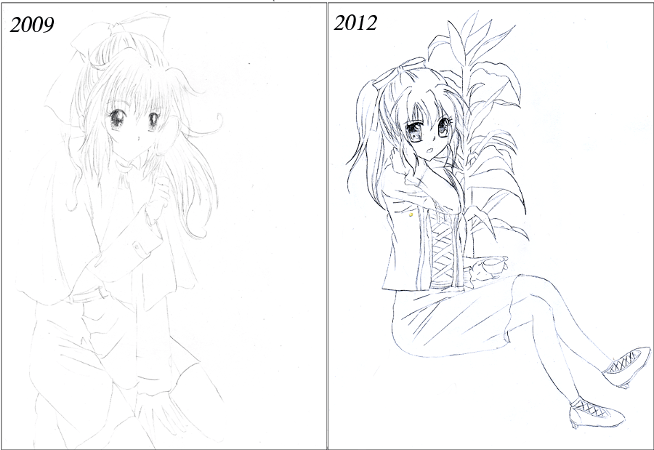 This is how my story with drawing between 2009 and 2012 has ended~