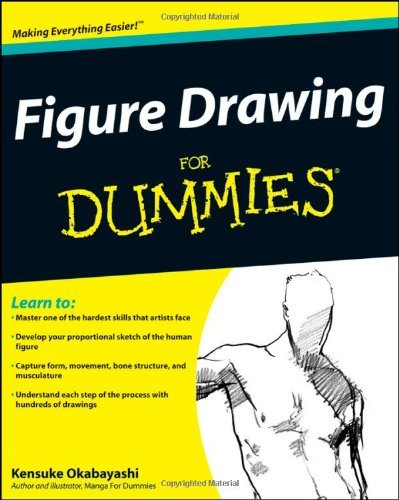 Figure Drawing For Dummies by Kensuke Okabayashi Book Cover