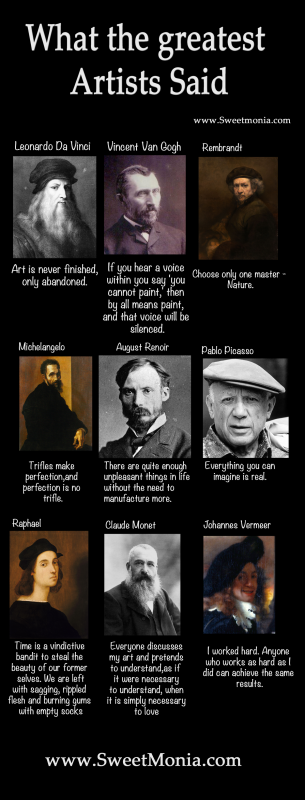 The greatest artists of all time quotes
