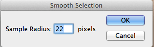 Smooth selection dialog