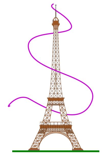 Thread Revolving Around The Eiffel Tower Example