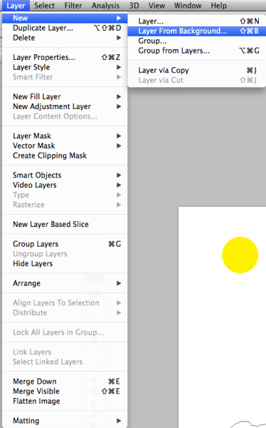 Layer From Background Option