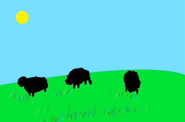 The Sheep Turned Black After Locking The Pixels Of The Layer That Contains Them