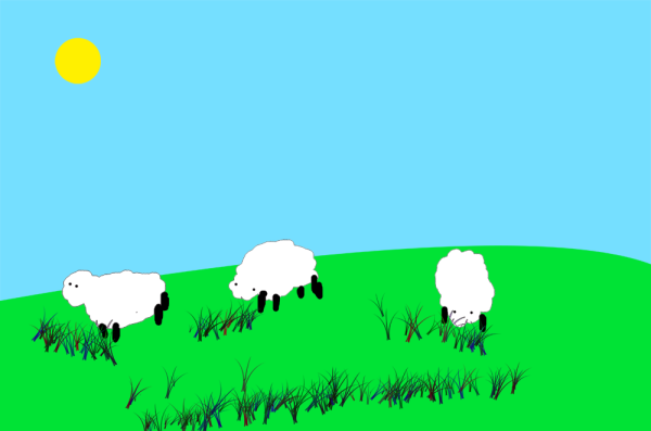 Applying Difference Blending Mode To The Grass Layer