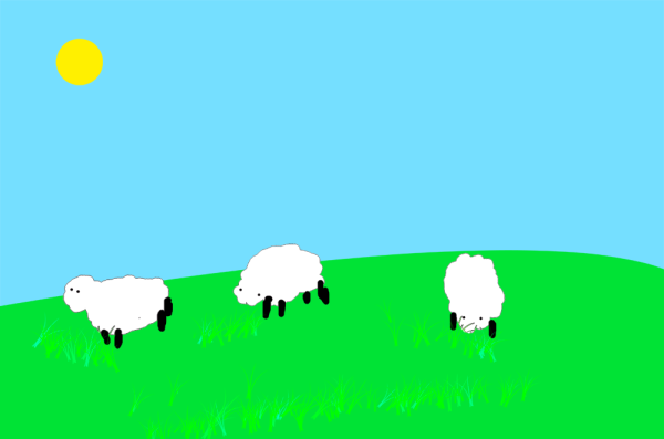 Applying Linear Light Blending Mode To The Grass Layer